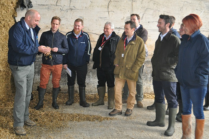 Chartered Surveyors dalcour-maclaren-and-national-grid-delegates-look-at-maize-silage
