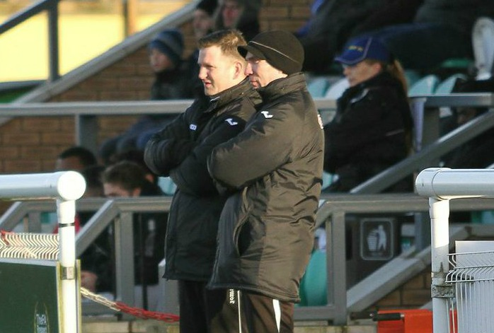 Danny Johnson and new assistant Wayne Goodison