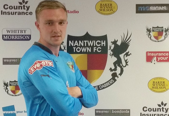 Stafford sending off - Goalkeeper Dave Parton, signed for Nantwich Town