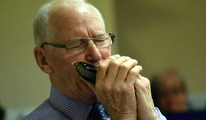 Autumn concert - David Clews on harmonica