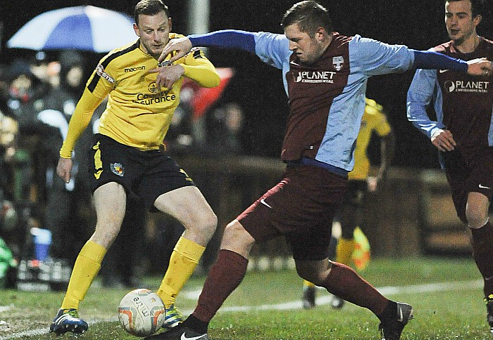 David Forbes for Nantwich against Sandbach - Nantwich to face Crewe Alexandra next