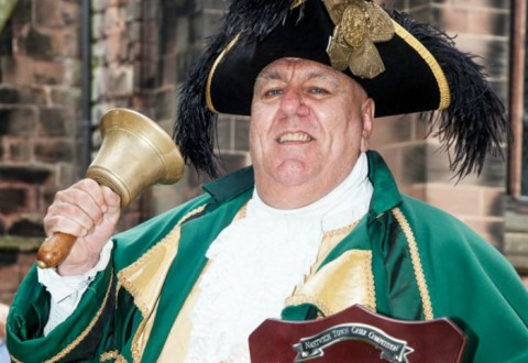 Town criers in fine voice in Nantwich during annual contest