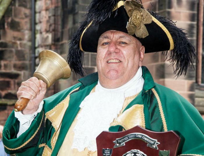 David Hinde, winner of 2015 town crier competition