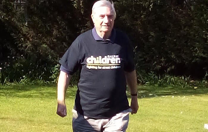 charity founder David Maidment OBE takes on the 2.6 Challenge for Railway Children - founder david Maidment