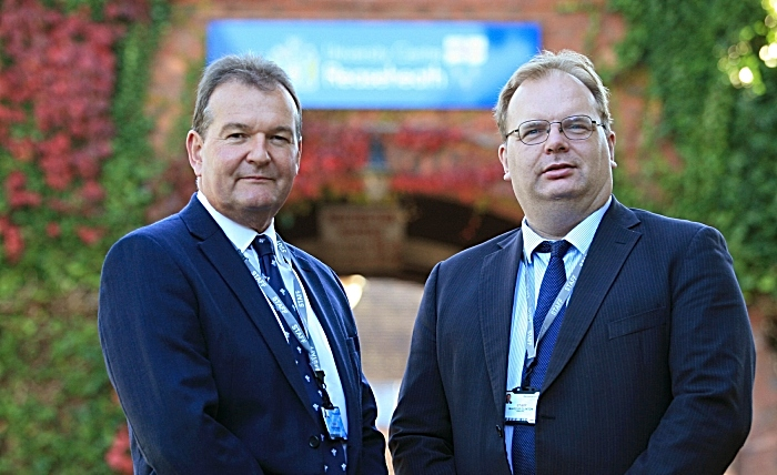David Pearson chair of Governors (left) and Marcus Clinton Principal and CEO of Reaseheath College landscape (1)