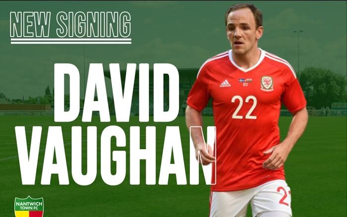David Vaughan Wales midfielder signs for Nantwich