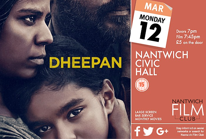 Dheepan movie, nantwich film club