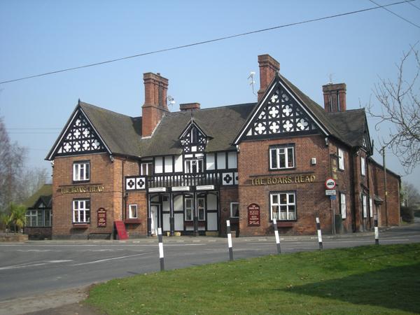 Covid positive - The boar's head pub in Walgherton near Nantwich