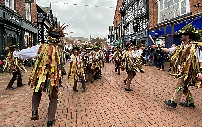 Domesday Morris Dancers entertain in the town centre (1)