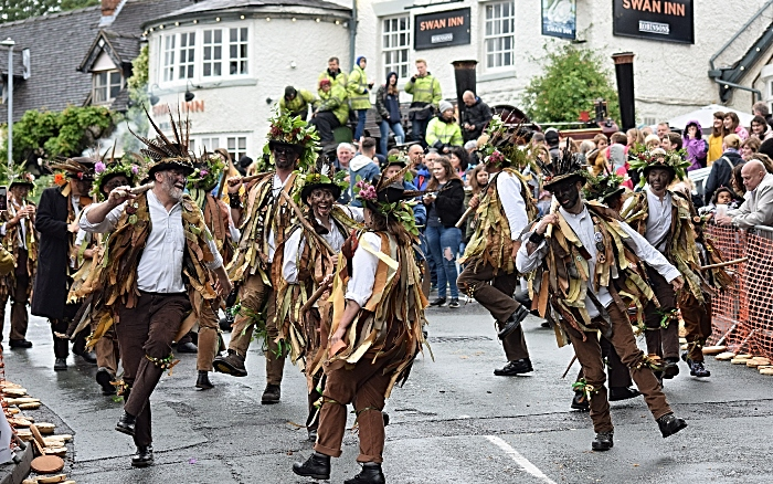 Domesday Morris Dancers perform on Main Road (1)