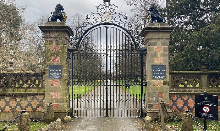 Dorfold Hall - main gates (1)Dorfold Hall - main gates (1)