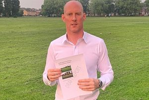 Dr Kieran Mullan on Barony Park with the draft report