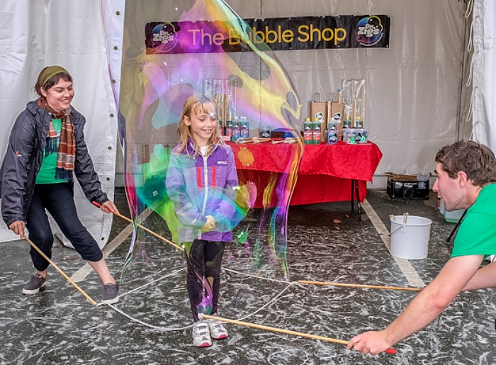 FunZone - Dr Zig's giant bubbles at Nantwich Food Festival