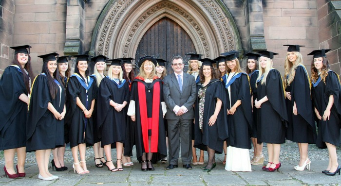 EQUINE BSc (Hons) Equine Science and BSc Equine Science students with lecturers and Campbell Thompson (all eyes open)