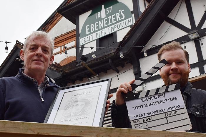 Ebenezer's Craft Beer & Gin hosts artwork display - l-r Tony Winterbottom - Nicholas Warren (1)