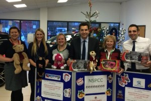 Car dealer Gateway collects toys for NSPCC Christmas appeal