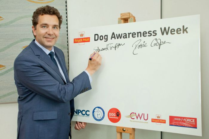 Edward Timpson MP, royal mail dog awareness week