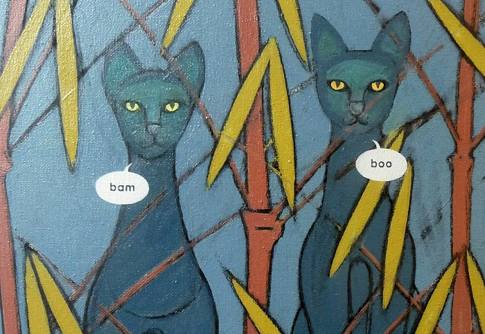 Egyptian mau & bamboo by Nicholas Ferenczy