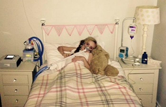 Elle Grace Morris in hospital