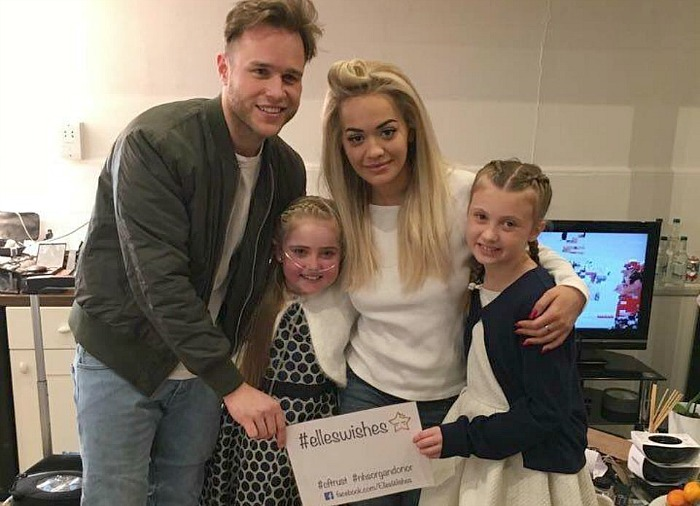 Elle Morris and Cara with Olly Murs and Rita Ora