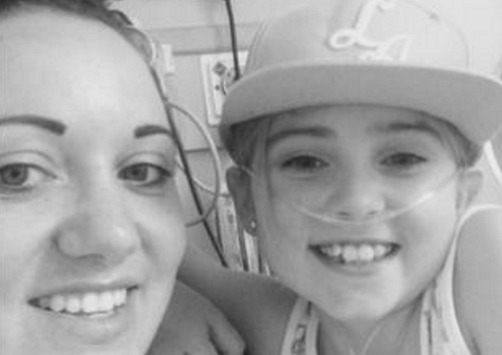 Elle Morris, needing a transplant, and mum Rebecca Whitfield