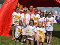 Elle's Stars girls raise more than £1,200 at Nantwich Duathlon event