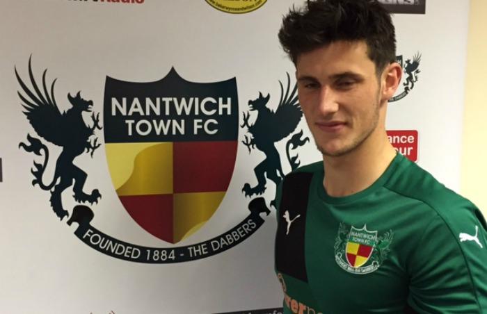 Elliot Osbourne, Nantwich Town, scored against Salford in FA Trophy