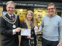 Malbank pupil wins Nantwich Mayor Christmas card competition