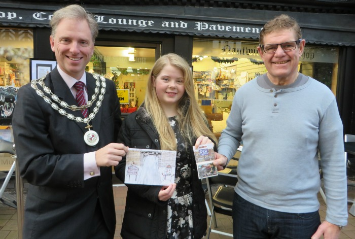 Emily, at Malbank, wins Mayor Christmas card competition