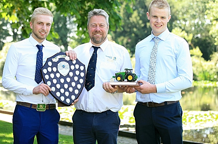 Engineering top students Edward Stubbs, Andrew Molyneux (course manager), Ben Mills (1)