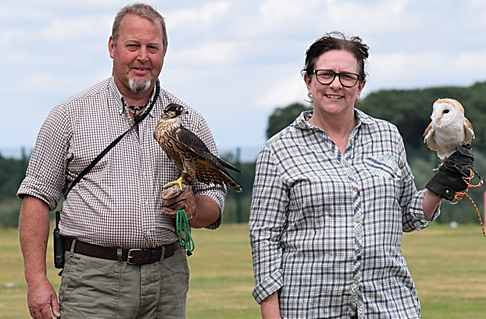 Eskdale Hawks Falconry - Rod Van Daalen (peregrine) and Jane Banks (barn owl) (1)