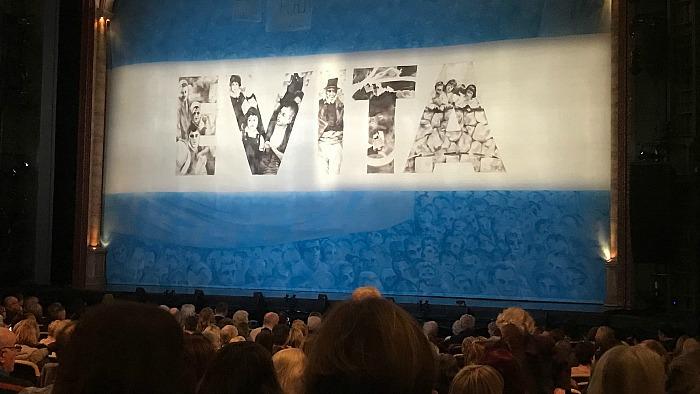 Evita show at Hanley Regent Theatre