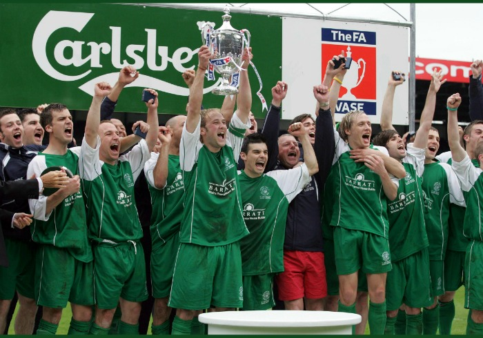 FA Vase Nantwich Town book front cover