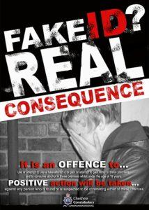 FAKE ID A4 poster - Nantwich Pubwatch scheme