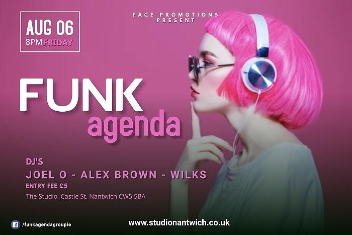FUNKagenda - Studio Nantwich - Friday 6th August 2021 - event graphic (1)