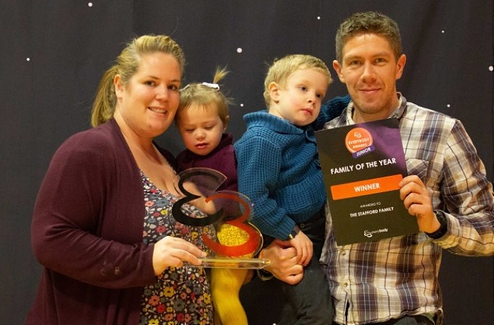 Everybody - Family Of The Year went to Rebecca Singleton, Andrew, Lincoln and Verity Stafford