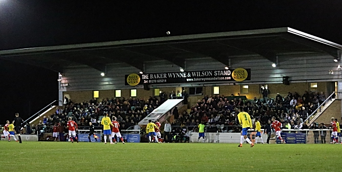Fans watch the action from the Baker Wynne and Wilson Stand