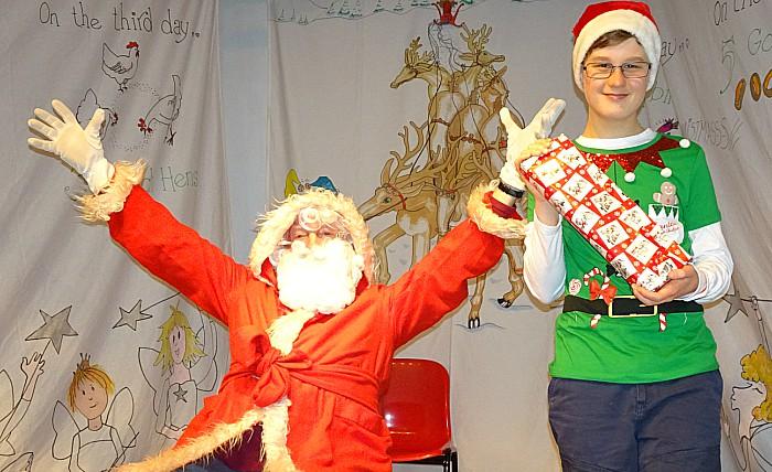 Xmas Fair - Father Christmas and helper (2)