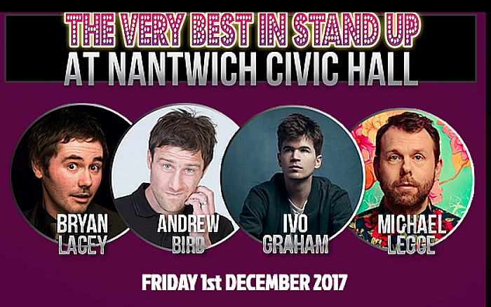 Final live comedy show of year set for Nantwich Civic Hall