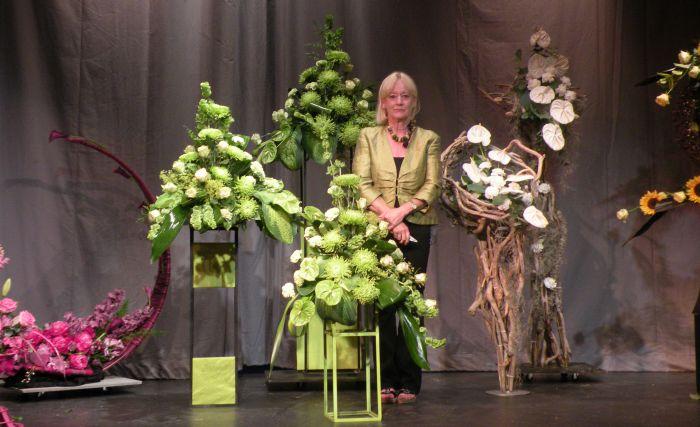 Diane Fair, floral expert at Reaseheath College