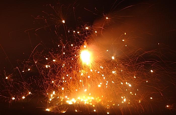 Firecrackers ward off evil spirits (1)