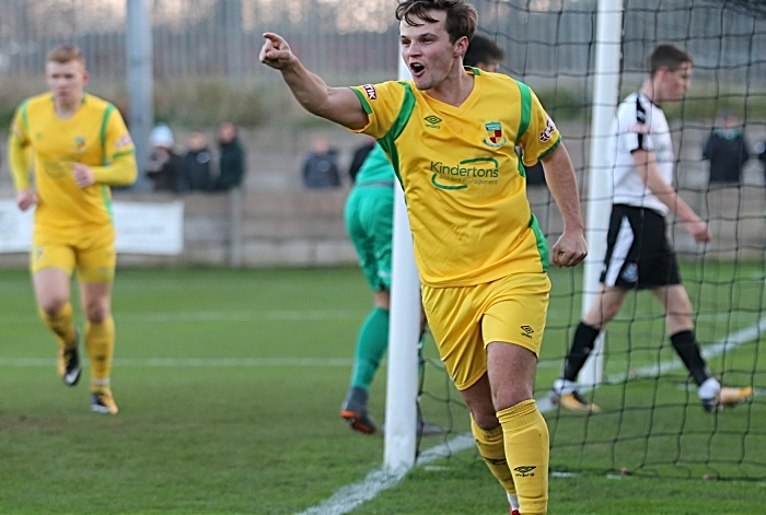 First Nantwich Town goal - Sean Cooke celebrates his goal (1)