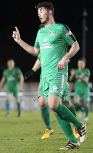 First Nantwich goal - Harry Clayton celebrates