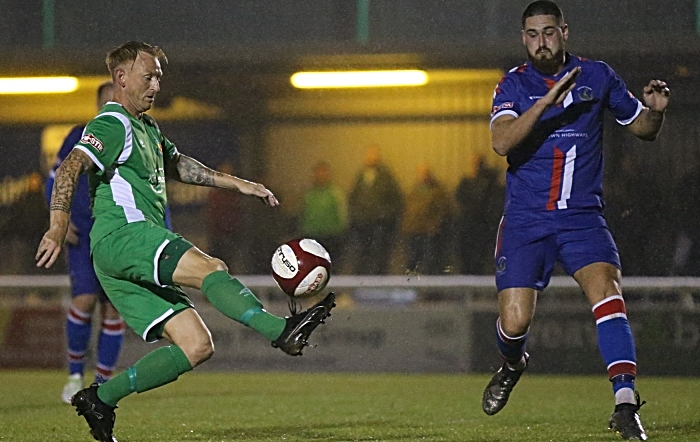 First Nantwich goal - Steve Jones controls the ball and slots home (1)