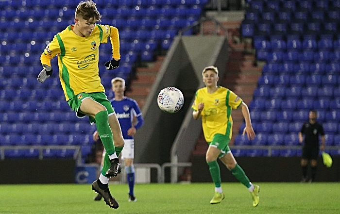 First-half - Callum Parker controls the ball (1)