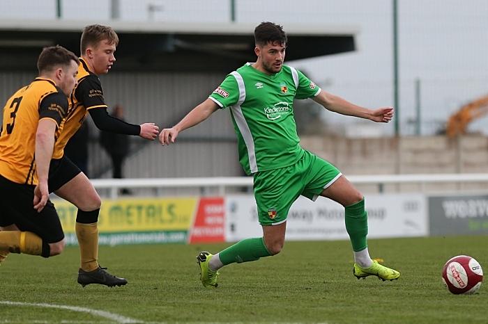 First-half - Callum Saunders on the ball (1)