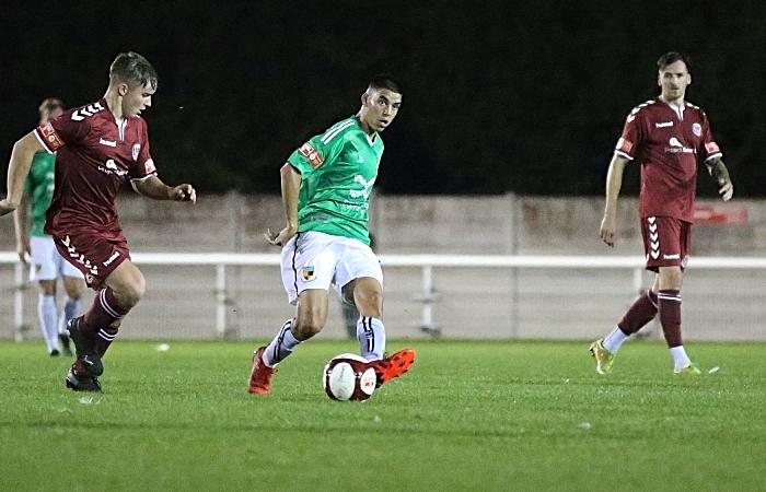 "First-half - Carlos ""Thommy"" Montefiori plays the ball forward (1)"