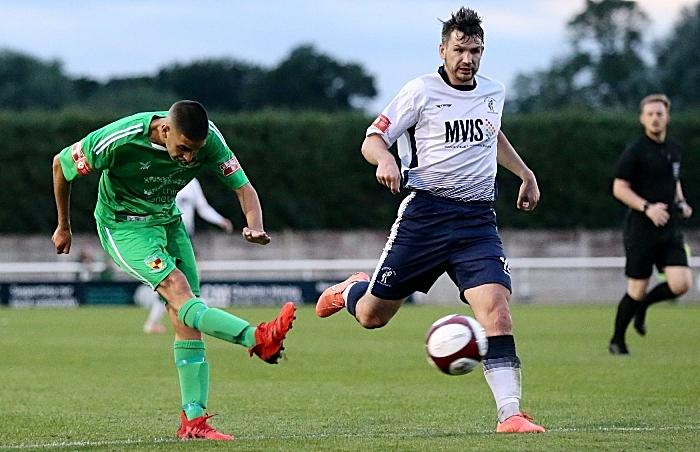 "First-half v Matlock - Carlos ""Thommy"" Montefiori shoots at goal (1)"