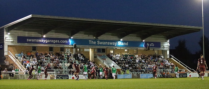 First-half - Dabbers throw-in infront of The Swansway Stand (1)