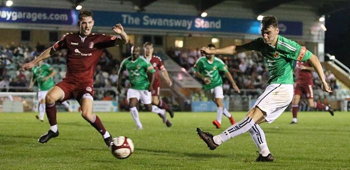 First-half - Jack Hatton shoots at goal (1)